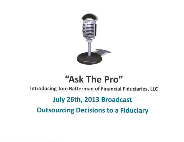 Outsourcing Decisions to a Fiduciary